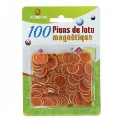 100 Pions de Loto Magnétiques