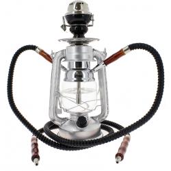 Chicha Lampe à Pétrole LED Grise