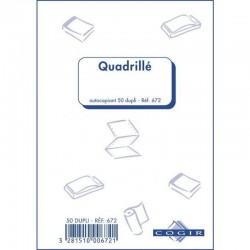 Manifold NCR Autocopiant Dupli Quadrillé 14 x 21 cm