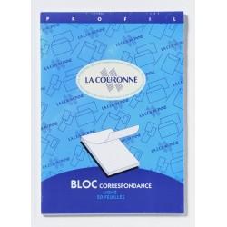 Bloc de Correspondance Ligné Format A4