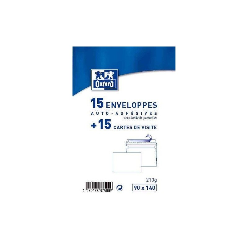 15 Enveloppes Auto Adhesives 15 Cartes De Visite