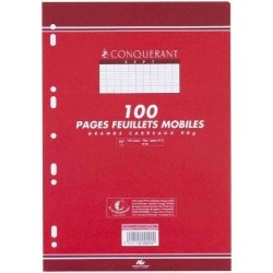 100 Pages Feuillets Mobiles Conquerant