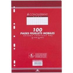 100 Pages Feuillets Mobiles Conquérant