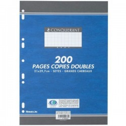 200 Pages Copies Doubles Conquerant