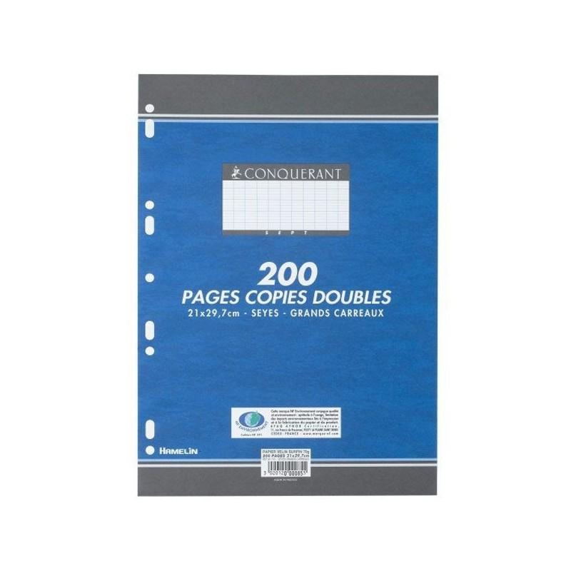 200 Pages Copies Doubles Conquerant
