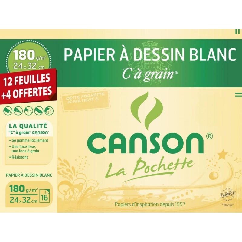 Pochette Canson Papier à Dessin Blanc