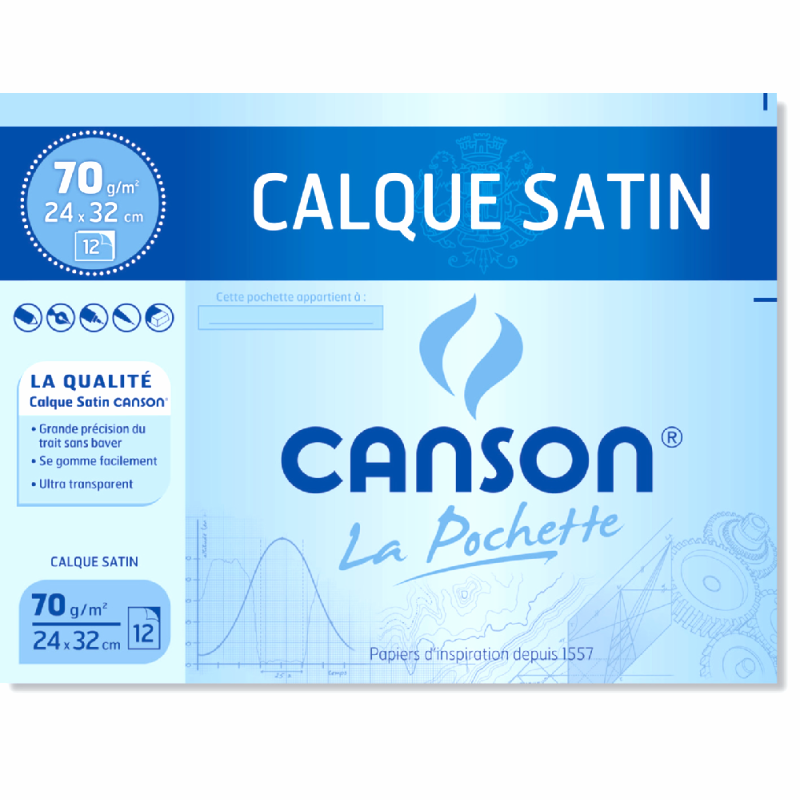 Pochette Canson Calque Satin