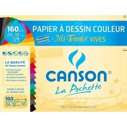 Pochette Canson Papier à Dessin Couleur