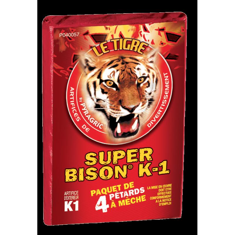Pétard le Tigre Super Bison K1 x 5 Paquets