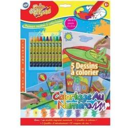 Coloriage aux Crayons de Cire au Numéro