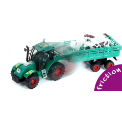 Tracteur Avec Remorque et Animaux