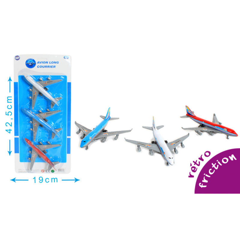 3 Avions Long Courrier