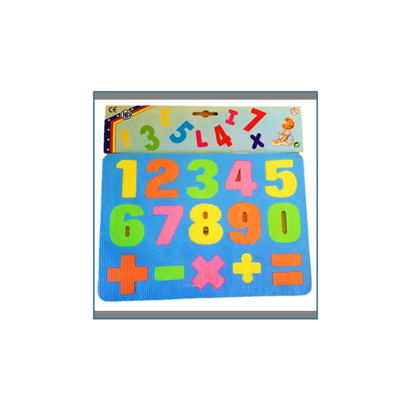 Chiffre ou Alphabet en Mousse