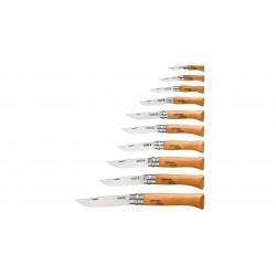Tableau de 12 Couteaux Opinel Carbone
