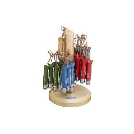 Présentoir de 60 Couteaux Opinel Baroudeur n°8 Inox.