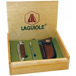 Coffret Couteau Laguiole avec Etui et Fusil