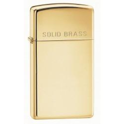 Briquet Zippo Slim Solid Brass