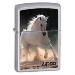 Briquet Zippo White Horse Galloping
