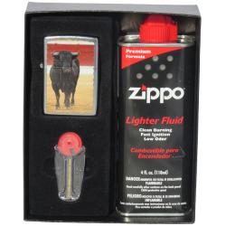 Coffret Cadeau Briquet Zippo Taureau