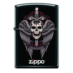 Briquet Zippo Winged Skull
