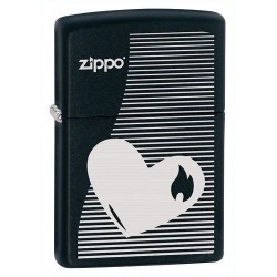 Briquet Zippo Heart Lines
