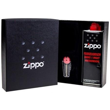 Coffret Cadeau Briquet Zippo Chromé Brillant