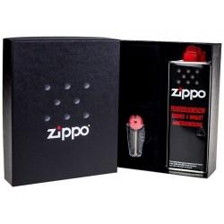 Coffret Cadeau Briquet Zippo Chromé Slim