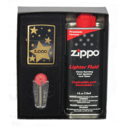 Coffret Cadeau Briquet Zippo Stars
