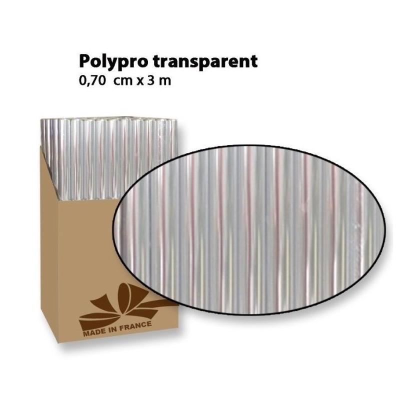 Rouleau de Papier Cadeau Polypro Transparent