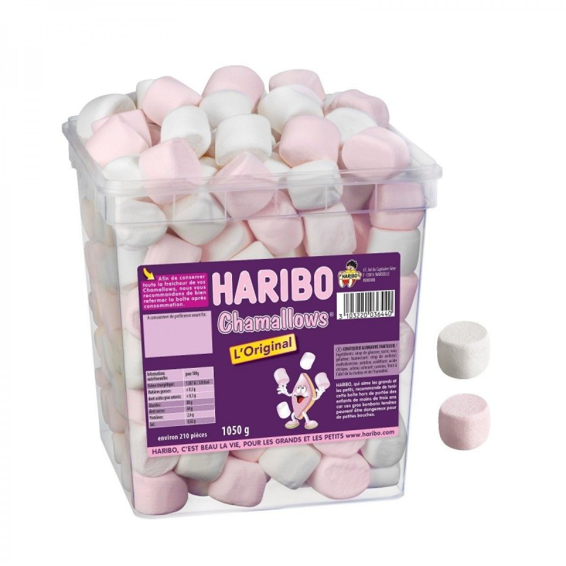 Tubo Haribo Chamallows x 210 pièces