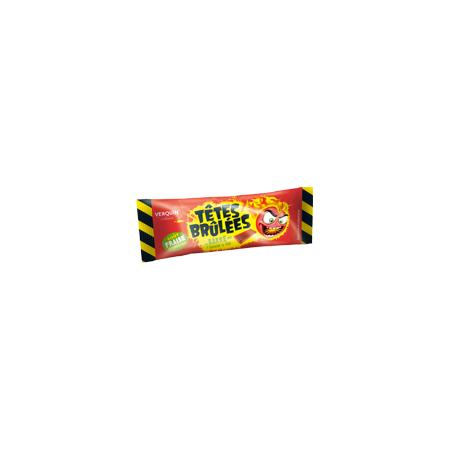 Bonbons Têtes Brûlées Fraise en Stick