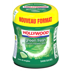 Bottle Hollywood Chewing Gum Green Fresh