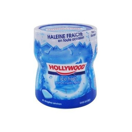 Bottle Hollywood Chewing Gum Ice Fresh