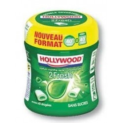 Bottle Hollywood Chewing Gum 2 fresh Menthe Vert Chloro