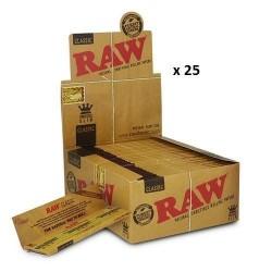 25 Carnets Feuille à rouler Raw Classic Slim