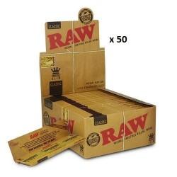 50 Carnets Feuille à Rouler Raw Classic Slim