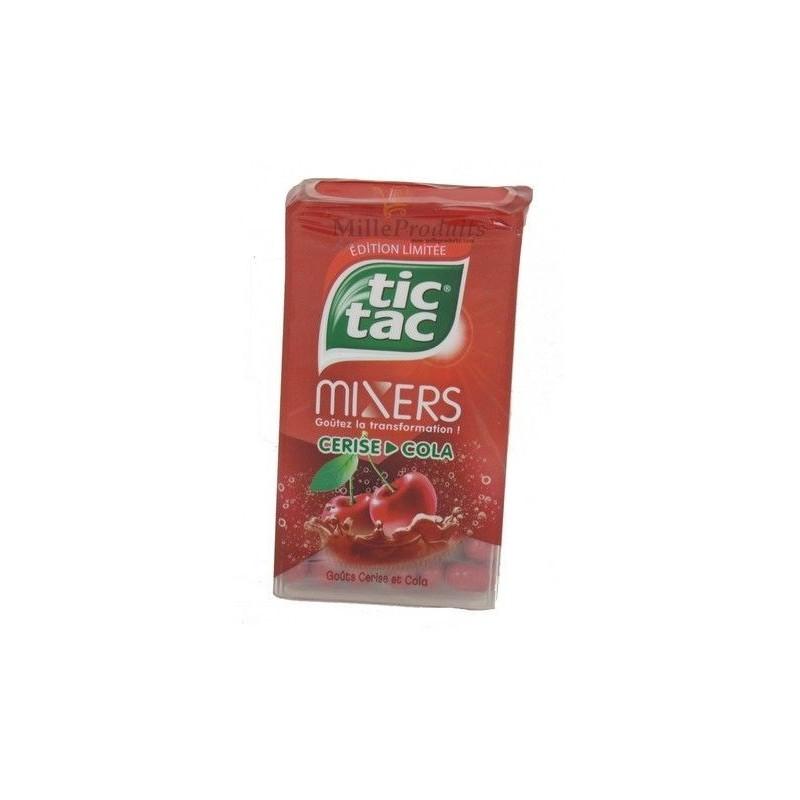 12 Étuis Tic Tac de 100 Pastilles Mixers Cerise Cola