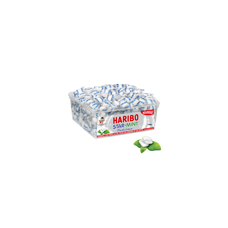 Bonbons Haribo Star Mint Menthe Intense