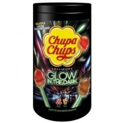 120 Sucettes Chupa Chups Glow in the Dark