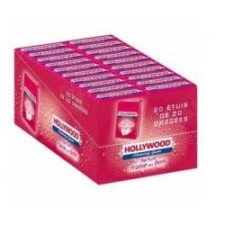Hollywood Chewing Gum Parfum Fraise des Bois 20 Etuis de 20 Dragées