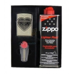 Coffret Cadeau Briquet Zippo Vicorian Heart