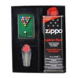 Coffret Cadeau Briquet Zippo Pool Table and Balls