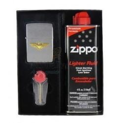 Coffret Cadeau Briquet Zippo Gold Eagle