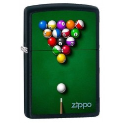 Briquet Zippo Pool Table and Balls