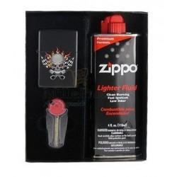 Coffret Cadeau Briquet Zippo Racing Skull