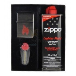 Coffret Cadeau Briquet Zippo Flame