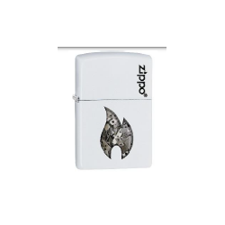 Coffret Cadeau Briquet Zippo Flame White Parts