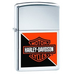 Coffret Cadeau Briquet Harley Davidson Orange Black