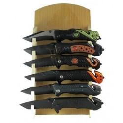 Présentoir 6 Couteaux de Sécurité U.S Army