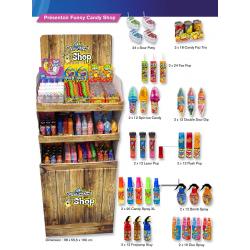 Présentoir Funny Candy Shop (sur commande)